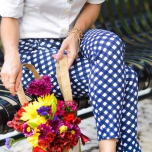 de2598f2c0 kate spade Pants - Kate Spade Broome Street Gingham Capri Pants